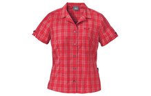 Jack Wolfskin Mosquito Sun Shirt Women red checks